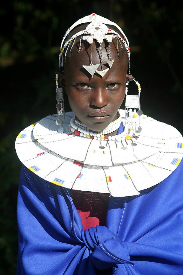 Masai lady in Ngorongoro Crater highlands, Tanzania