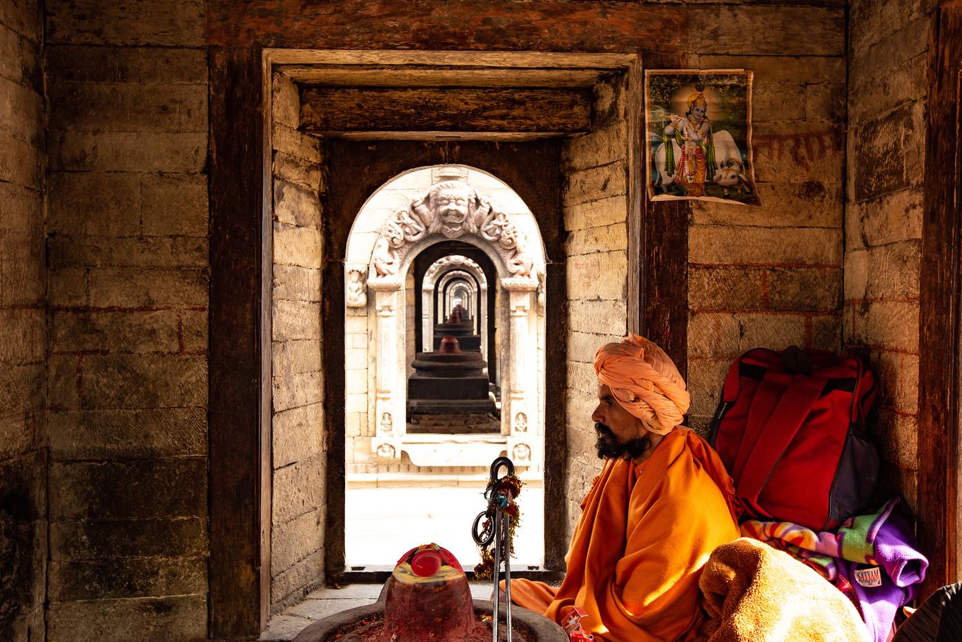 Sadhu holy man in Kathmandu, Nepal