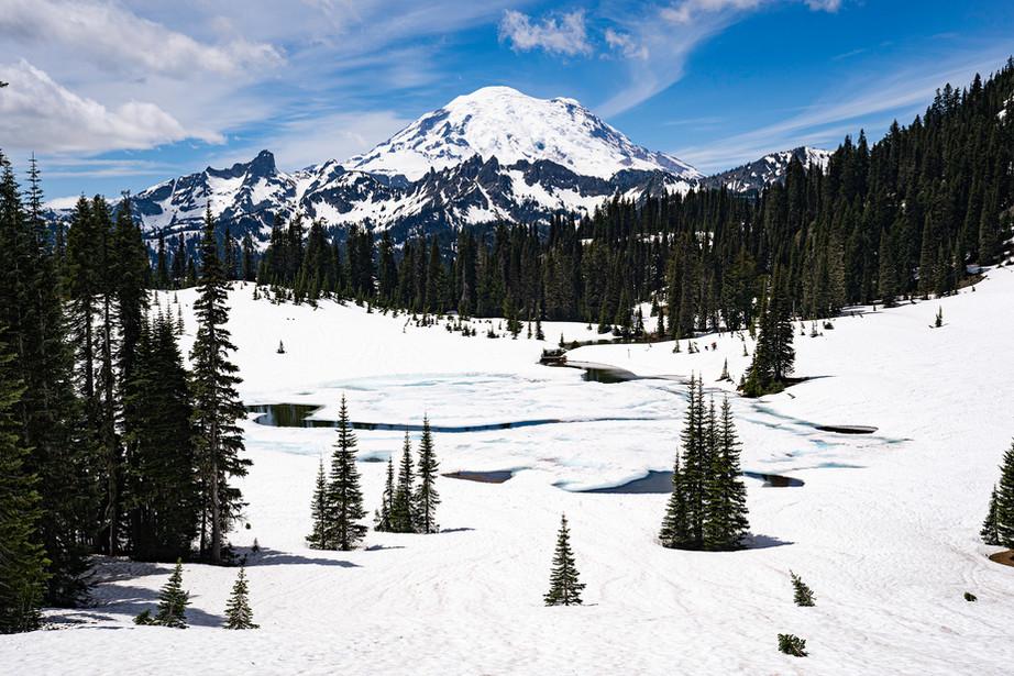 Mount Renier in Washington State, USA