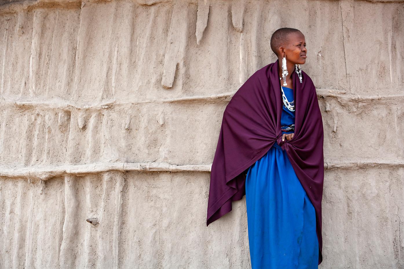 Masai lady near Lake Manyara, Tanzania