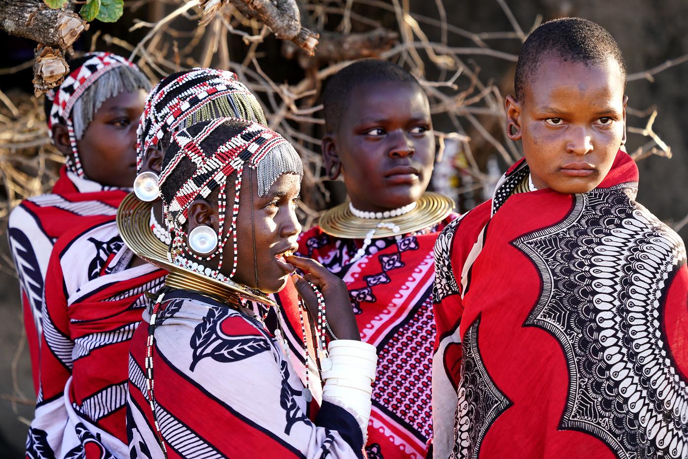 Datoga girls in Makao Village, Tanzania