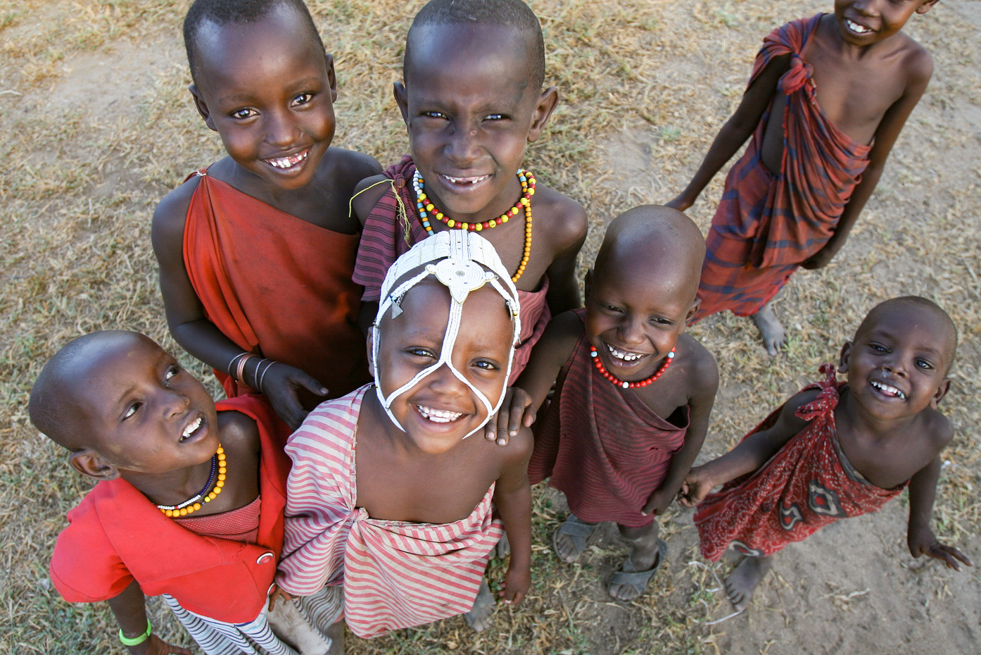 Masai chldren near Lake Natron, Tanzania