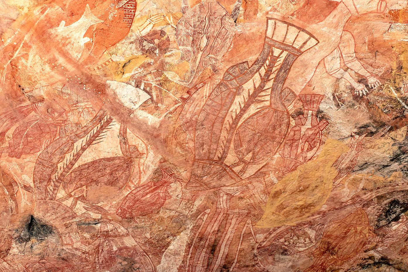 Aboriginal rock art in Arnham Land, Australia