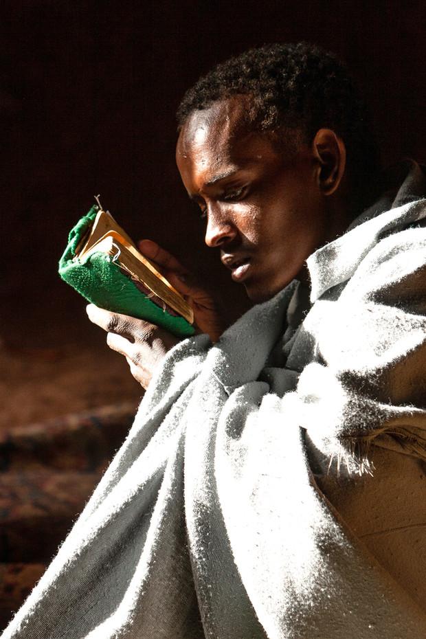 Orthodox Deacon in Lalibela, Ethiopia