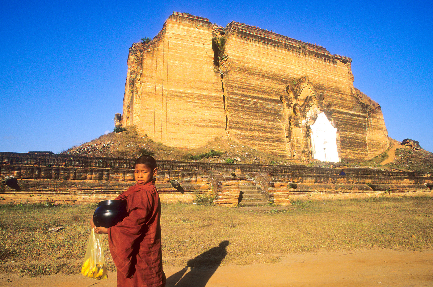 Novice monk in Mingun, Myanmar
