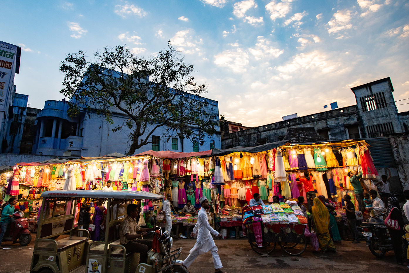 Early evening in Varanasi, India