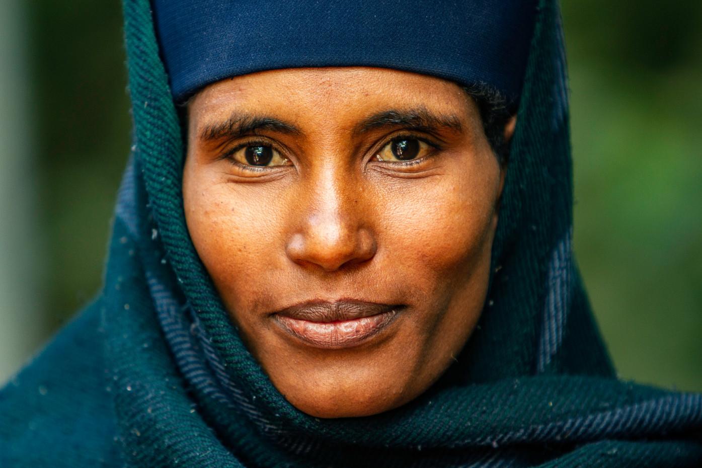 Orthodox Christian nun on Lake Tana, Ethiopia