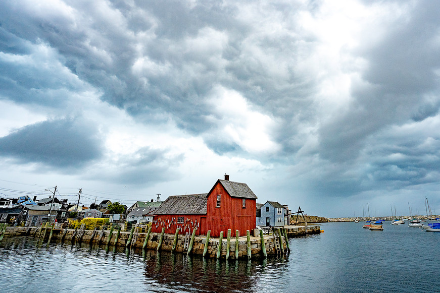 Little Red Shack in Rockport, USA