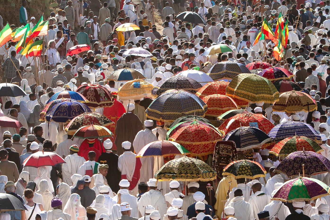 Timkat celebrations in Lalibela, Ethiopia