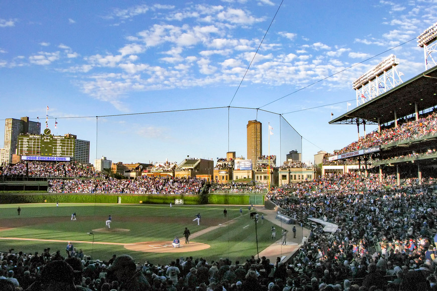 Wrigley Field in Chicago, USA