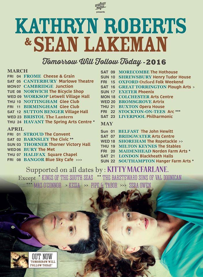 Kathryn Roberts & Sean Lakeman Tour Dates