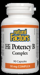 Vitamin B - Hi Potency B Complex - Natural Factors