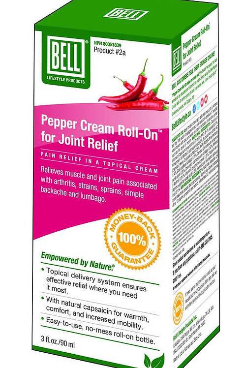 Pepper Cream for Joint Relief - Roll On - Bell Lifestyle Products