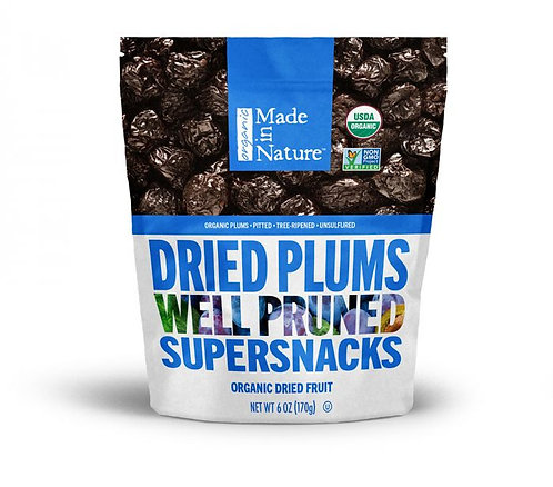 Dried Plums - Organic - Made in Nature