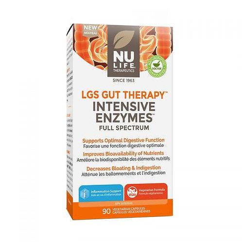 LGS Gut Therapy™ Intensive Enzymes - Full Spectrum - NuLife Therapeutics