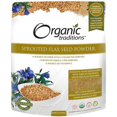 Sprouted Flax Seed Powder - Organic Traditions