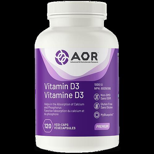 Vitamin D3 120 Caps - AOR