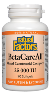 BetaCareAll - Natural Factors - Mixed Carotenoid Complex 25000 IU