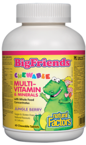 Multi-Vitamin & Minerals - Big Friends  Chewable - Natural Factors