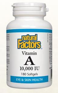 Vitamin A - 10,000 IU - Natural Factors