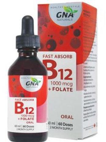 Vitamin B12 - with Methylfolate - GNA Naturals