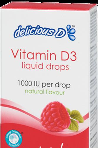 Vitamin D3 - Delicious D - Raspberry - Platinum Naturals
