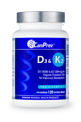 Vitamin D3 & K2 Capsules - CanPrev