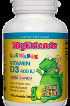Vitamin D3 - Chewable - Big Friends - Natural Factors