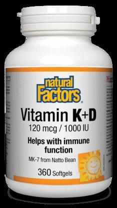 Vitamin K+D Capsules - Natural Factors