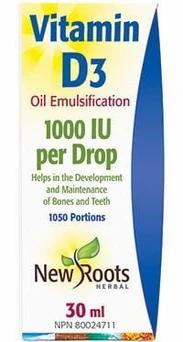 Vitamin D3 1000IU -New Roots