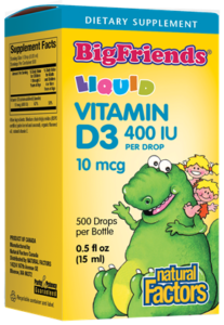 copy of Vitamin D3 - Drops - Big Friends - Natural Factors
