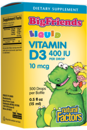 Vitamin D3 - Drops - Big Friends - Natural Factors