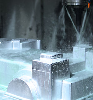 3D Finish Machining (Finishing) Action Shot, Great Coolant Flow.JPG