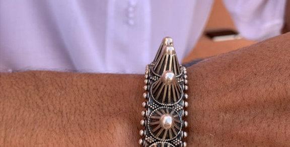925-er Silber Armreifen aus Tiznit