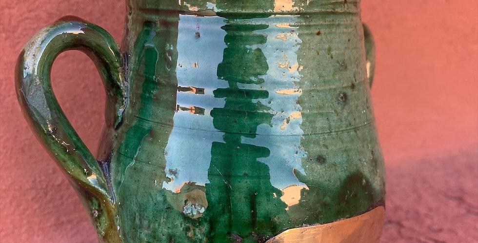 Marokkanischer Dekokübel aus Tamgeroute mit Kupferakzenten