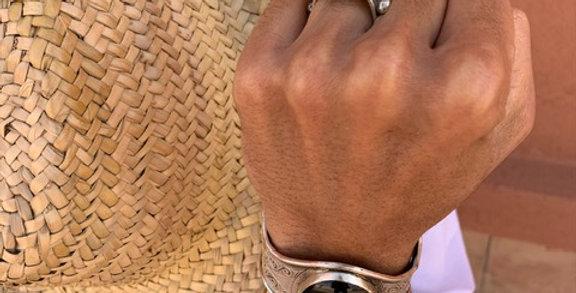 925-er Silber Ring der Tuareg mit Achat