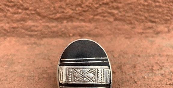 925 Silber Silber Tuareg Ring mit Ebenholz