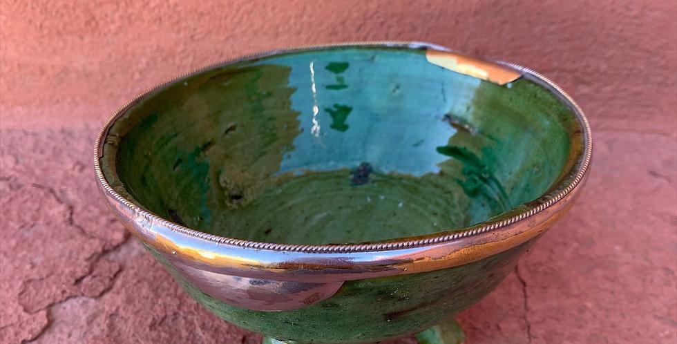 Marokkanisches Schälchen aus Tamegroute mit Kupferakzenten