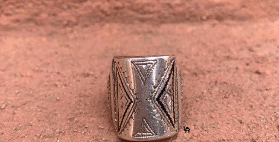 925-er Silber Ring der Tuareg Stämme