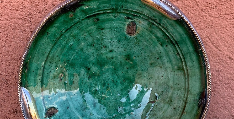Tamegroute Teller mit Kupferakzenten, klein