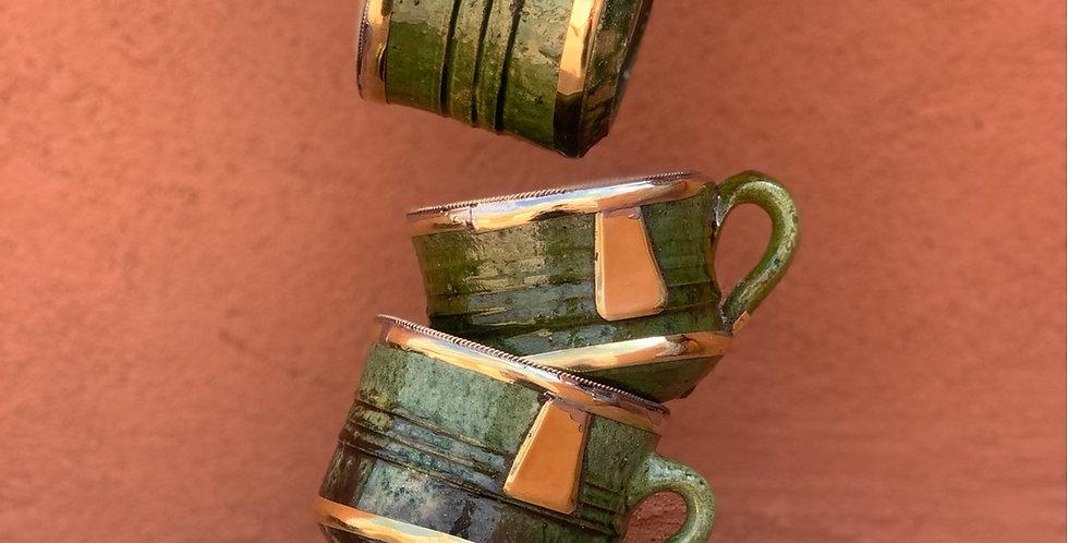 Tamegroute Kaffeetasse mit Kupferakzenten