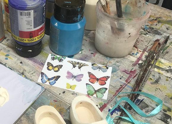 Materiaal pakket klompje beschilderen