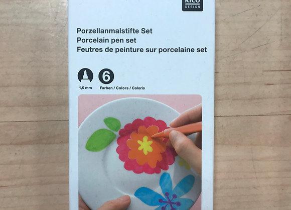 Porseleinstiften set Rico design