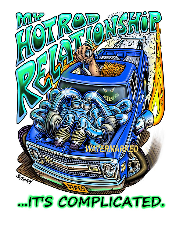 aaCar Caricature Complicated Hot Rod Rel