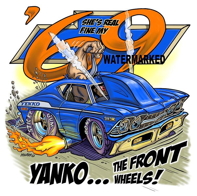 Car Caricature 69 Chevelle Yenko WATERMA