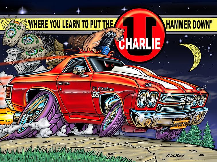 Car Caricature El Camino Charlie U. FINA