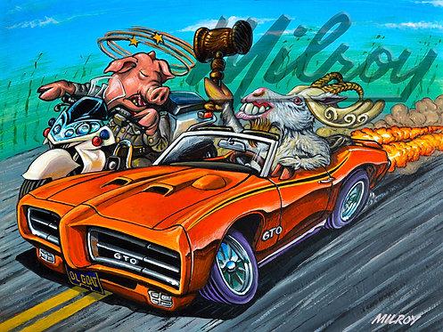 Orange '70 GTO Judge Print