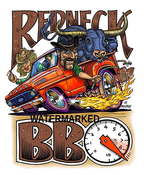 aCar Caricature Redneck BBQ FORD WATERMA