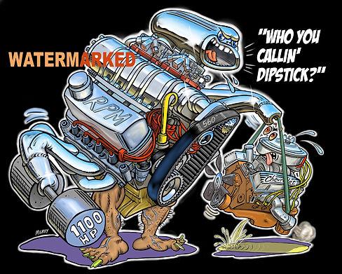 DIPSTICK ENGINE final art worth $500 WAT