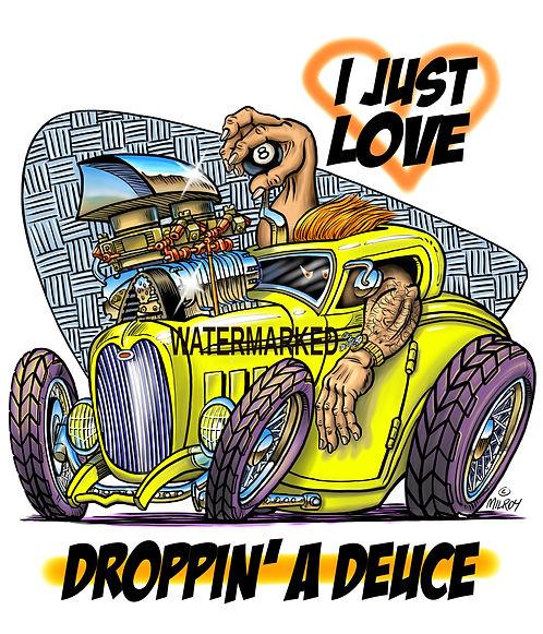 aaaCar Caricature Drop a Deuce full colo